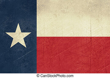 Grunge Texas state flag of America, isolated on white...