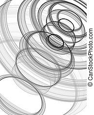 black and white circle image - A illustration of a black and...