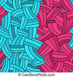 Seamless graffiti lines background - Colorful abstract waves...