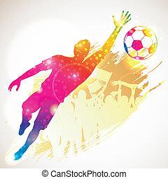Soccer Goalkeeper - Silhouette Soccer Player Goalkeeper and...