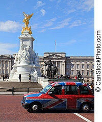 Queen Victoria Memorial in front of Buckingham Palace at...