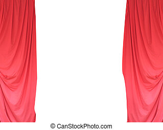 Open red stage theater curtains