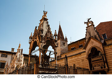 Famous Gothic Funerary Monument of Scaliger Tombs Arche...