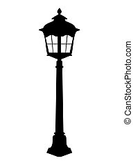Old lantern silhouette vector illustration