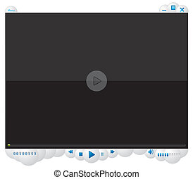 Media player with bubble design