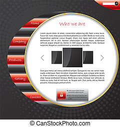 Striped website template design