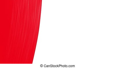 Paintbrush Painting Red color. Useful for Transitions....