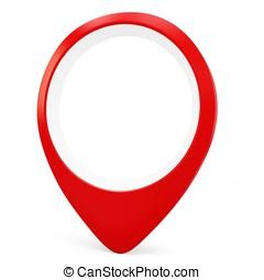 3d red round pointer locator