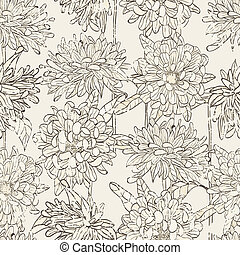 seamless floral pattern - Seamless floral pattern with hand...