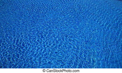 swimming pool - background of rippling swimming pool with...