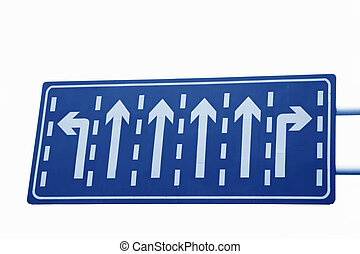 road traffic signs on a white background.