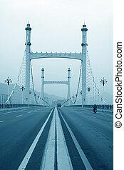 road bridge - closeup of a road bridge in north china