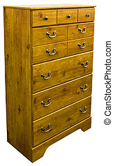 Chest of Drawers - Country Pine Chest of Drawers in Golden...