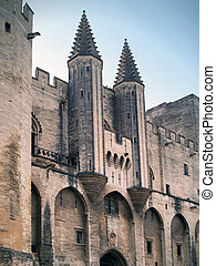 Palais des Papes, Avignon, France - The Popes palace -...