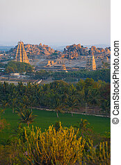 Long Distance Landscape Virupaksha Temple Hampi V - A long...