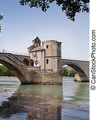 Pont dAvignon - The St-Benezet bridge in Avignon, France