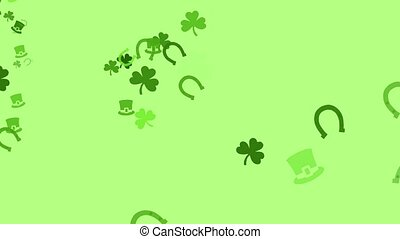 Irish Mix - A bunch of clovers, Irish hats, and horseshoes...