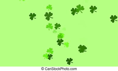 Clovers continuously shoot towards the screen