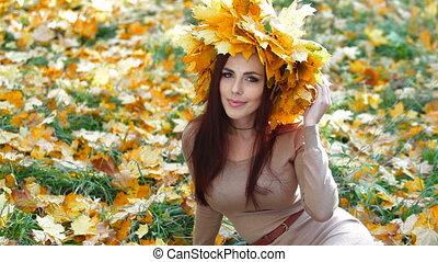 Woman Enjoying Autumn
