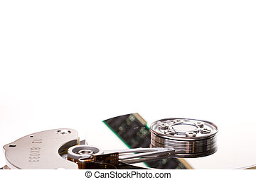 RAM reflected in a hard drive platter