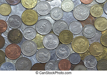 World Coins - Various coins around the world.
