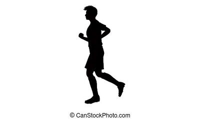 silhouette of man running