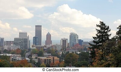 Portland Oregon City Skyline - Portland Oregon Downtown City...