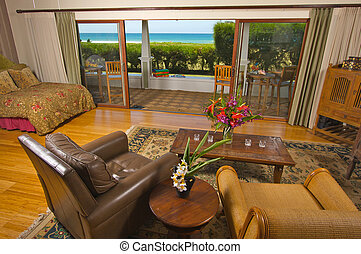Oceanfront Home from Living Room - Oceanfront Home with View...