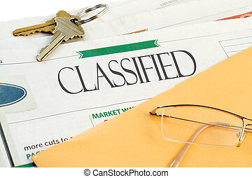 classified ads - classified headline section of the...