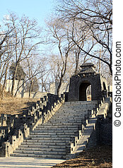 brick walls, the Great Wall, in Tangshan cities Hill Park,...