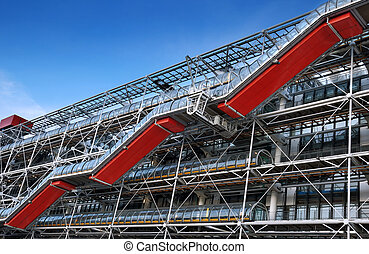 Bobur - Facade of Centre Georges Pompidou Bobur in Paris,...