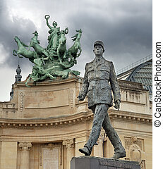Charles de Gaulle. - Monument to French general and...