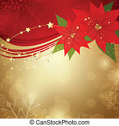 Vector Christmas Background - Vector Illustration of a...