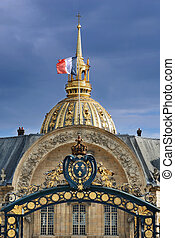Invalides. - The Gate with the Royal Coat of Arms in les...