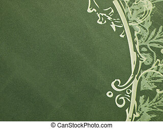 seamless pattern on green