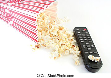 television time - spilled popcorn and remote control ready...
