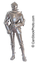 Knight's armor, isolated - A vintage european full body...