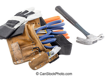 tool belt with hand gloves