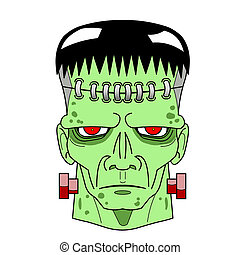 Halloween Frankenstein s Monster head comic