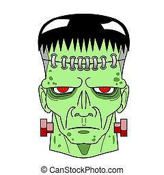 Halloween Frankenstein 's Monster head comic.