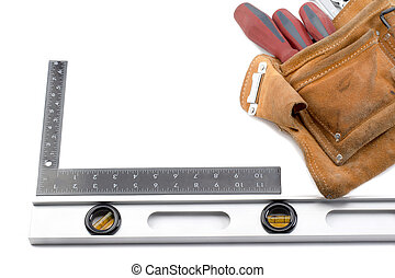belt with carpenters tools