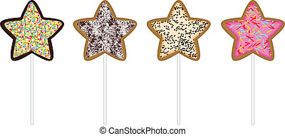 Christmas star cookies - Scalable vectorial image...
