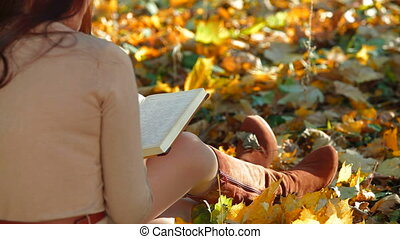 Student Reading Lecture Notes - Female Student Reading...