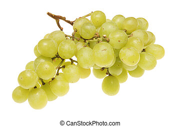 Bunch of grapes - Bunch of white grapes isolated on a white...