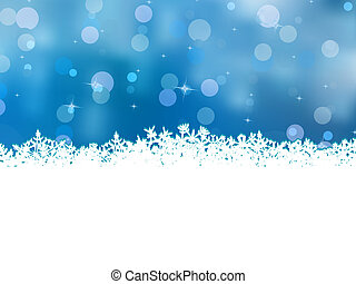 Blue christmas with beautiful snowflakes. EPS 8 - Blue...