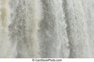 Close up view of a waterfall