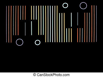 Black background - Colorful neon lights use as abstract...