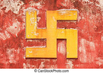 NHA TRANG, VIETNAM 31 JULY 2012 - Swastika symbol on an...