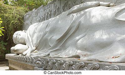 Buddha, landmark on Nha Trang, Vietnam - Large Buddha,...