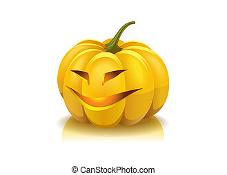 Laughing pumpkin. - Laughing pumpkin is shown in the image.